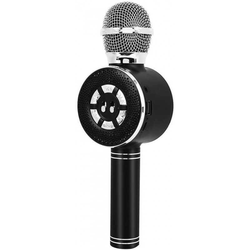 Microfono Bluetooth Ws-669 Portatile con Altoparlante Stereo Nero