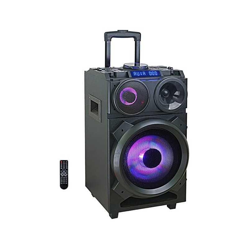 Majestic TS 281DJ BT USB AX – Trolley Bluetooth, DJ Party Speaker 160W, luci LED, Deck DJ, 2 ingressi USB AUX