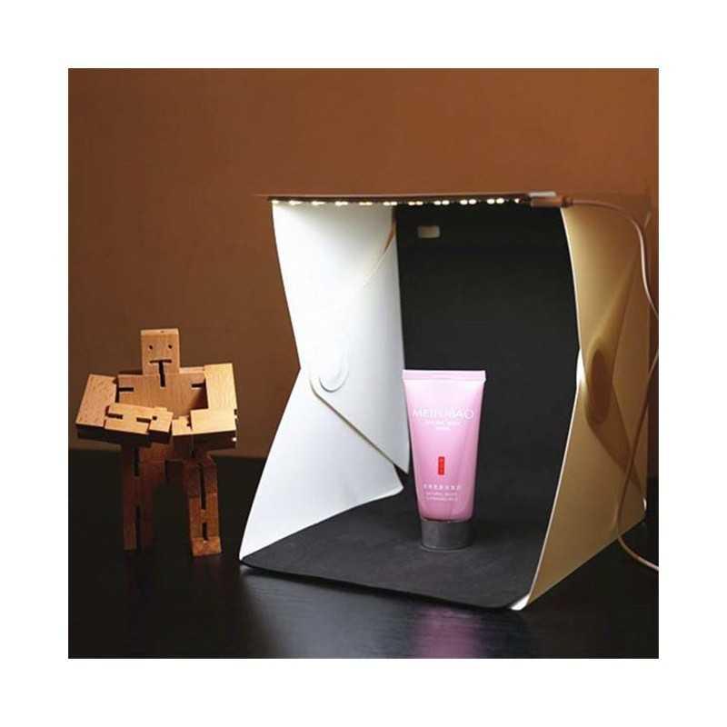 PhotoBox con Pannelli LED e Sfondi Inclusi (20x20)