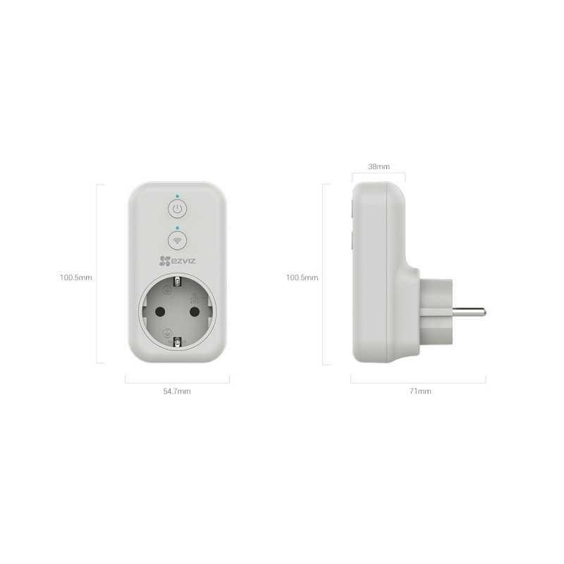 EZVIZ Smart Plug 2.4GHz WIFI CS-T31-16B-EU