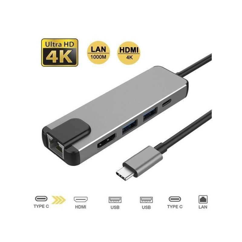 HUB USB-C 5in1 LAN HDTV