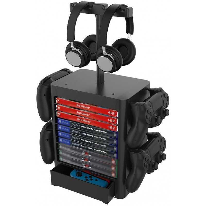 Supporto verticale per cuffie, videogame e controller