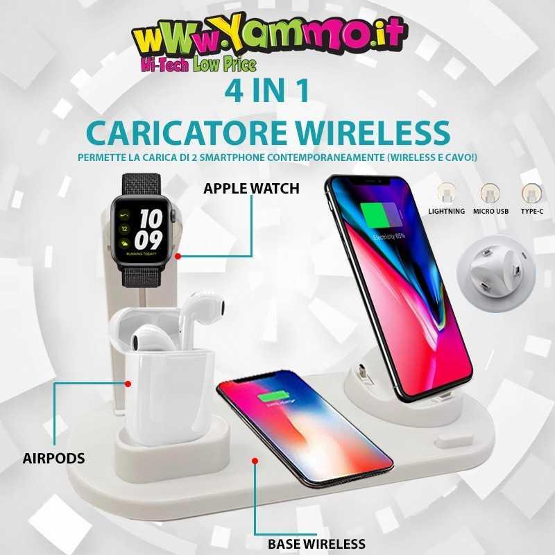 Supporto di ricarica Wireless 4 in 1
